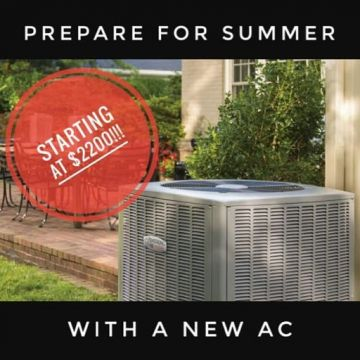 New AC Installed starting at $2200